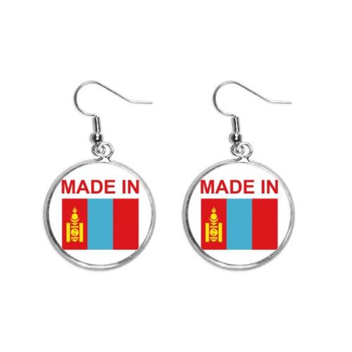 Made In Mongolia Country Love Ear Dangle Silver Drop Earring Jewelry Woman