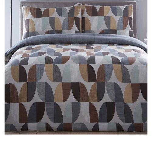 Abstract, Geometric Single Bedding - Charcoal