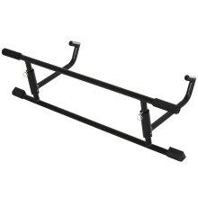 HOMCOM 102cm Home Pull Up Bar Door Frame Exercise Metal Foam Handle Gym Black