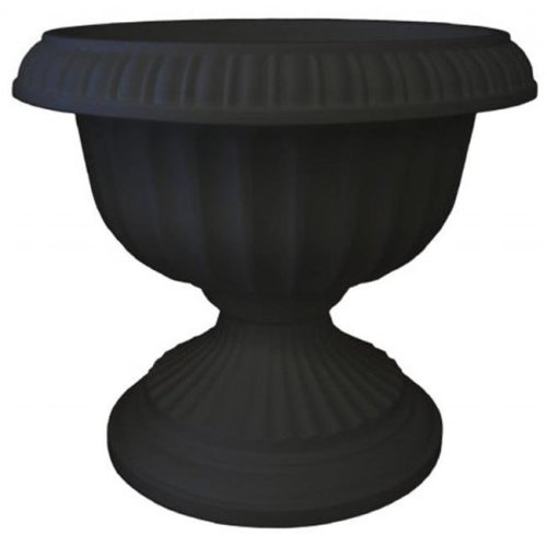18in Grecian Urn Black