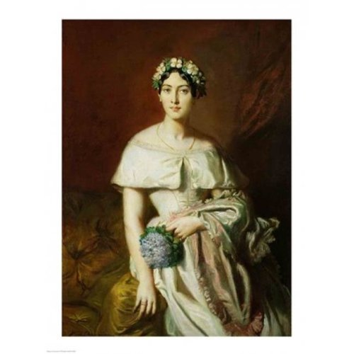 Mademoiselle Marie-Therese De Cabarrus 1848 Poster Print by Theodore Chasseriau - 18 x 24 in.