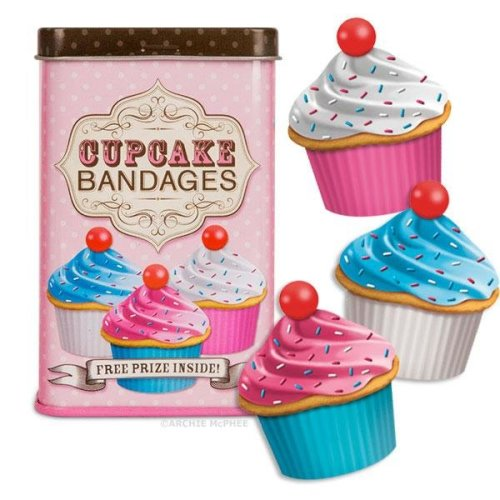 Character Goods - Archie McPhee - Bandage - Cupcake w/Tin 11905