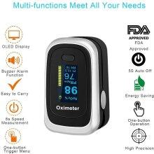 Fingertip Pulse Oximeter Easy Check Oxygen Saturation Concen