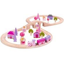 40pc Bigjigs Toys Fairy Figure Of Eight Wooden Train Set