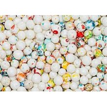 MINI JAWBREAKERS WHITE WITH SPECKLES - 9.99Lbs