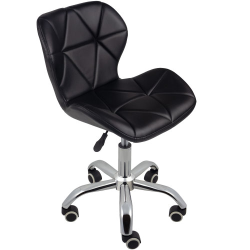 (Black) Charles Jacobs Cushioned Swivel Office Chair