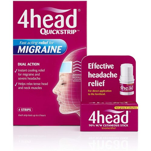 4head Levomenthol Stick for Headache Relief 3.6g NEW UK free delivery