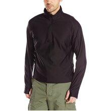 Tru-Spec Shirt 24-7 blk Grid Pullover Zip Through Black Medium