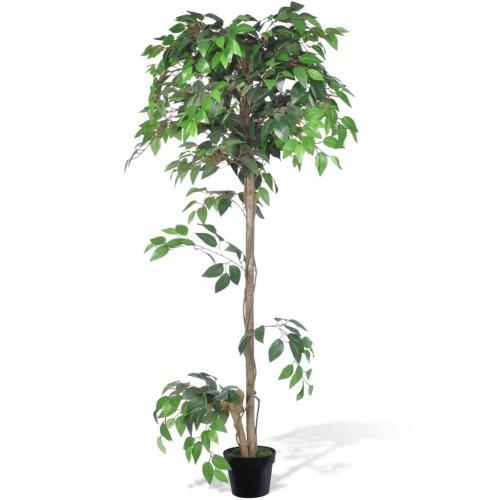 vidaXL Artificial Plant Ficus Tree with Pot 160cm Fake Plant Arrangement Decor