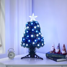 Small Artificial Christmas Tree Tabletop With LED Light Ornaments Xmas DIY 2FT