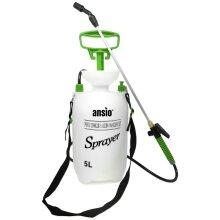 Garden Sprayer 5 litre Pressure Sprayer Pump Action, Weed Killer,Water Pump Sprayer, Ideal with Pesticides, Insecticides, Fungicides - Spray
