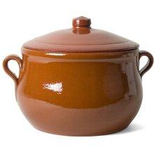 Moroccan Style 5 Litre Large Casserole Dish Terracotta Ceramic Hob & Oven Safe