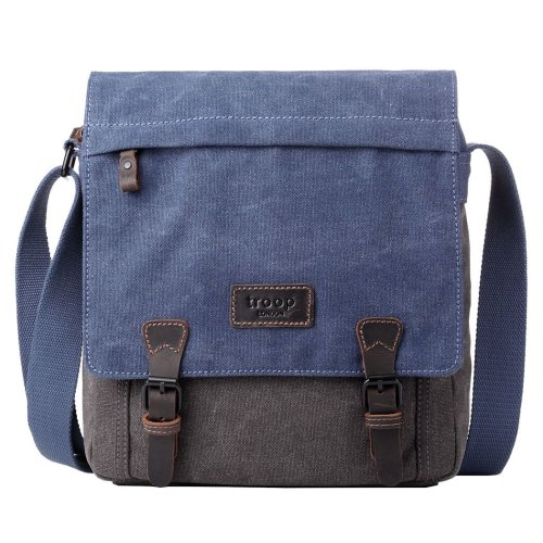 TRP0465 Troop London Classic Canvas Messenger Bag | Buy Bags Online | Canvas Messenger Bags | leather canvas backpack