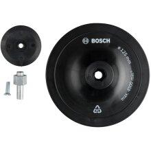 Bosch Professional 1609200240 Sanding Plates Ø 125 mm, Black, 125 mm x 8 mm