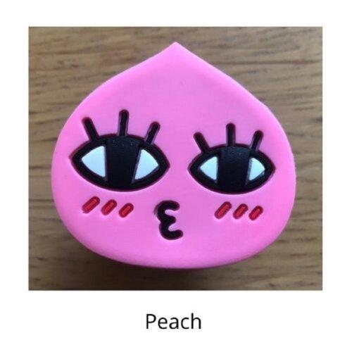 (Peach) mobile phone holder Socket Finger grip Stand UK