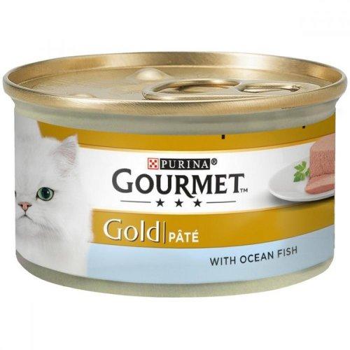 Gourmet Gold Ocean Fish Pate Complete Wet Cat Food (12 Tins)
