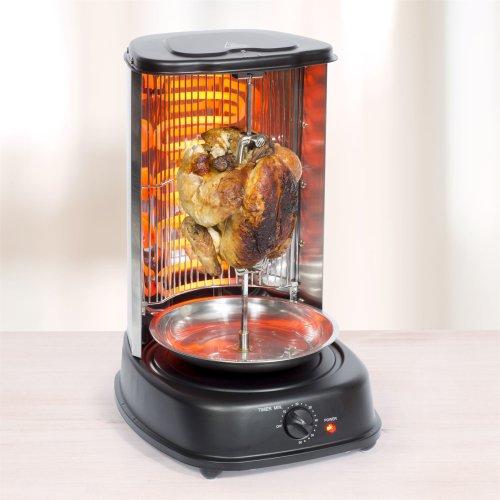 Sohler Doner Kebab Chicken Rotating Vertical Rotisserie Grill Cooker 2000w Black