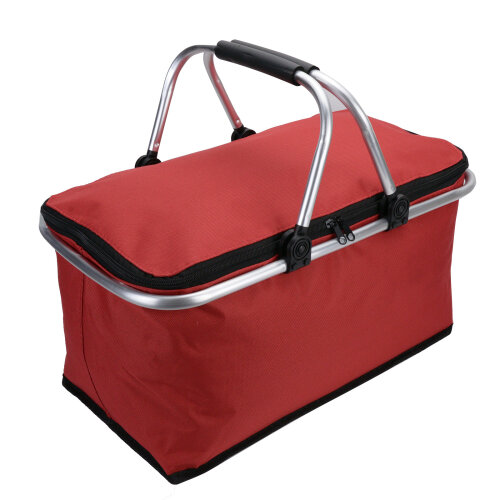 (Red) 30L Large Insulated Folding Picnic Bag