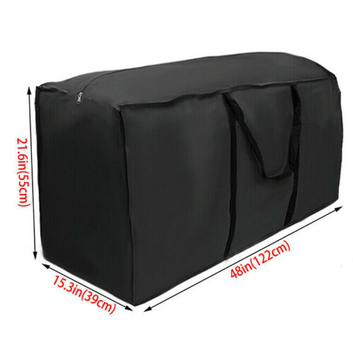 (122x39x55cm) Outdoor Cushion Waterproof Cover Furniture Storage Bag Protector