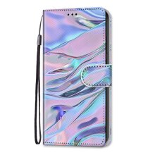 Samsung Galaxy S21 Ultra Case Pattern Cover Folio with kickstand water ripples