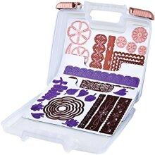 ArtBin 6978AB Die cut Plastic Storage case With 3 Magnetic Sheets, 10.25 x 3.25 x 9.625, Multicolor