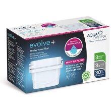 Aqua Optima Evolve Plus 30 Day Water Filter Cartridge 3 Pack - White - EPS311