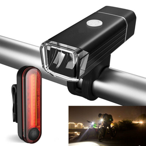 Bike Bicycle Lights USB LED Rechargeable Mountain Cycle Front //Back HeadlighT