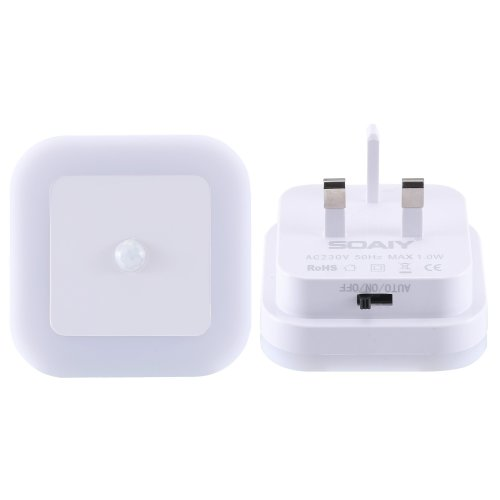 SOAIY Motion Sensor Plug in Light, 2PCS LED Night Light for Baby,Bedroom,Hallway,Warm White