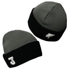 Joma Adult Winter Bronx Beanie Acrylic Hat Grey Black BX.001.101 A185B