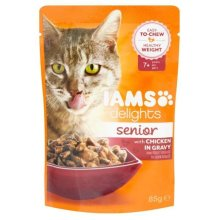 Iams Senior Cat 7+ Delights Chicken In Gravy Cat Food (24x85g)