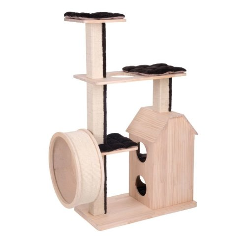 Robust Cat Scratching Tree Wooden Sisal Posts Climb Play Tower