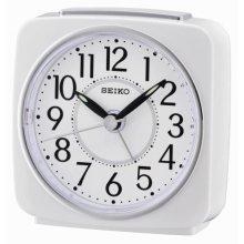 Seiko QHE140W Beep Alarm Clock with Sweep & Snooze - White