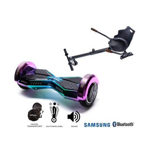 Package Hoverboard Smart Balance™ Premium Brand, Transformers Dakota + Hoverseat,8 inch Bluetooth wheels,Samsung battery,Built-speakers,700W,LED