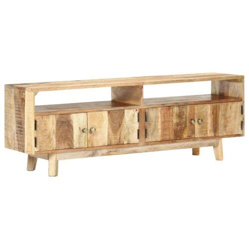 vidaXL Rough Mango Wood TV Cabinet Wooden Hifi Stereo Plasma Stand Media Unit