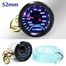 52mm Turbo Boost Pressure Pointer Gauge Meter Dials Smoked 30Psi LED