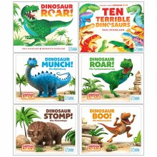 The World of Dinosaur Roar Series Collection 6 Books Set