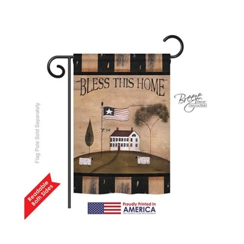 Breeze Decor 50043 Welcome Bless This Home 2-Sided Impression Garden Flag - 13 x 18.5 in.