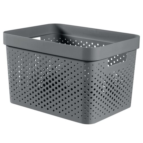 Curver Recycled Infinity Dots Box 17L Dark Grey [245661]