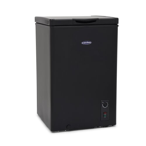 IceKing CF98BK Black Chest Freezer for Outbuildings 98 Litre 58cm