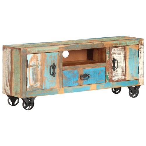 TV Cabinet 120x30x50 cm Solid Reclaimed Wood