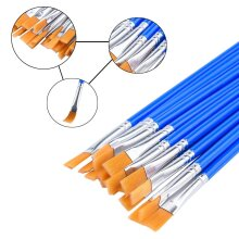 High Quality Flat Head Nylon Hair Paint Brushes For Detail Painting