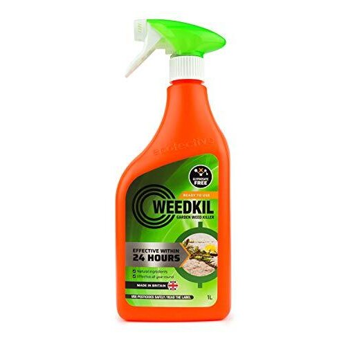 WeedKil Glyphosate Free Weed Killer 1 Litre - Child & Pet Friendly | Organic, Natural Ingredients | Effective Within 24 Hours, All Year Round | Read