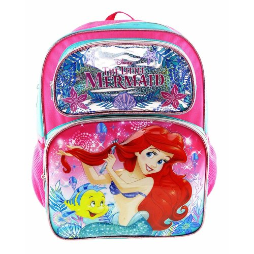 "Backpack - Disney - The Little Mermaid - Seashore 16"" New 009052"