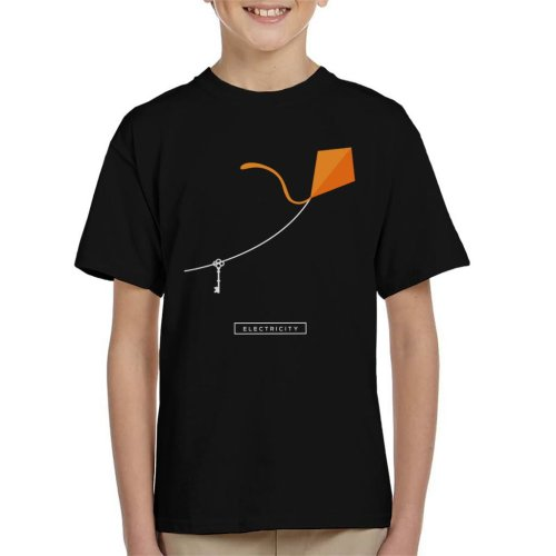 Maths And Science Benjamin Franklin Kite Experiment Kid's T-Shirt