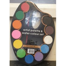artist palette and water colour set