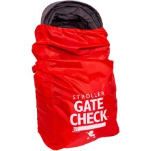 JL Childress Gate Check Bag for Standard and Double Strollers (Red)