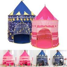Kids Pop-Up Play Tent Indoor & Outdoor Wizard Princess Castle Tent Den Shelter