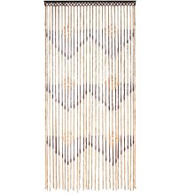JVL Tuscany Hanging Wooden Beaded Door Curtain Screen - Arrows, 90 x 180 cm