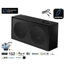 Onkyo NCP-302 Wi-Fi Smart Chromecast Speaker Bluetooth, Wi-Fi Black