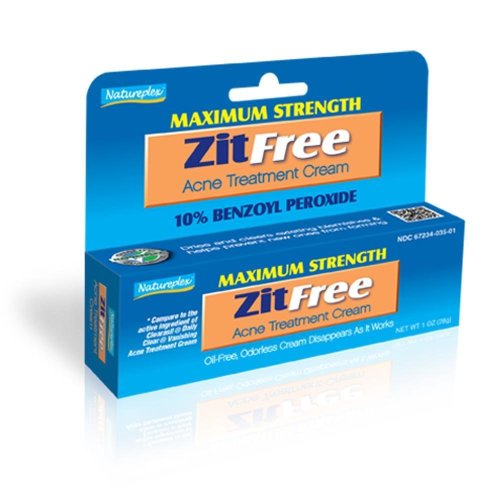 Natureplex Maximum Strength ZitFree Acne Treatment Cream Benzoyl Peroxide